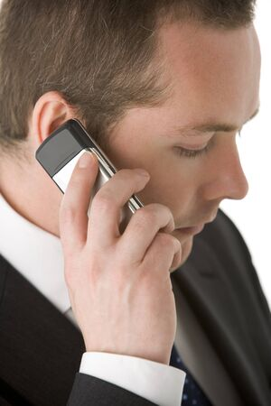 Businessman Talking On Mobile Phone  Stock Photo - 4444699