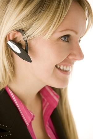 hands free: Empresaria Talking en tel�fono de manos gratis