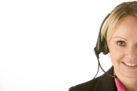customer service representative: Customer Service Representative With Headset