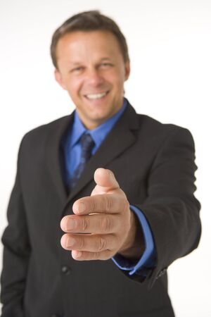 Businessman Greeting Stock Photo - 4444465