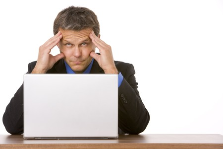 fourties: Businessman Looking Stressed Out