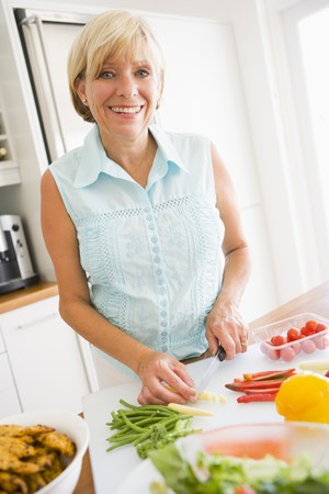 chopping: Woman Preparing meal,mealtime