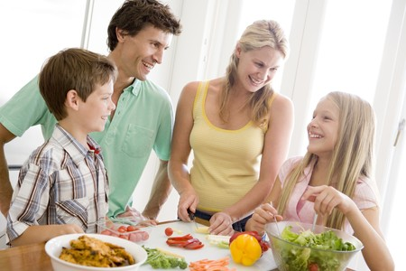 Family Preparing meal,mealtime Together  Stock Photo - 4446213