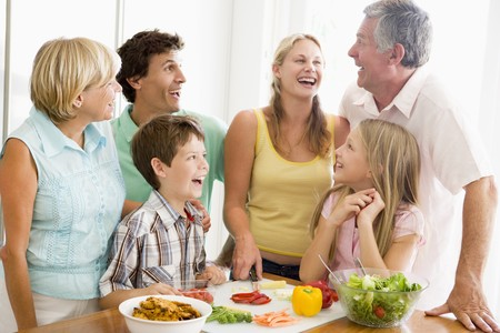 Family Preparing meal,mealtime Together  photo