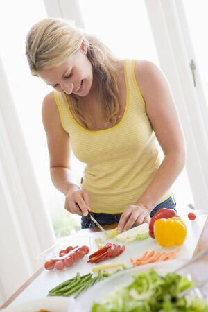 mealtime: Woman Preparing meal,mealtime ,  Stock Photo