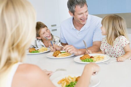 mealtime: Family Eating A meal,mealtime Together