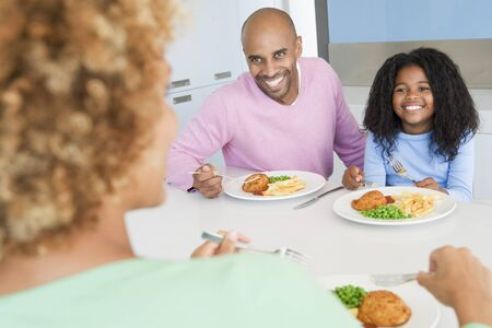 Family Eating A meal,mealtime Together  photo