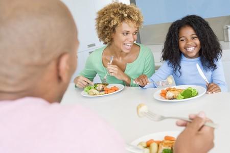가족 식사, 식사 시간 함께 스톡 콘텐츠