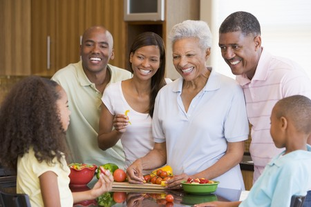 filipino: Family Preparing meal,mealtime Together  Stock Photo