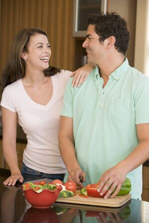 mealtime: Husband And Wife Preparing meal,mealtime Together