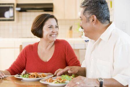 Elderly Couple Enjoying meal,mealtime Together photo