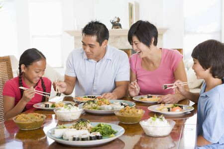 Family Enjoying meal,mealtime Together photo
