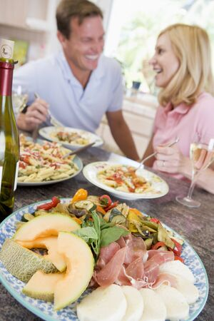 Couple Enjoying meal,mealtime Together Stock Photo - 4445430