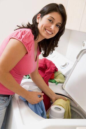 Woman Doing Laundry Stock Photo - 4445251