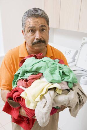 Man Doing Laundry Stock Photo - 4445963