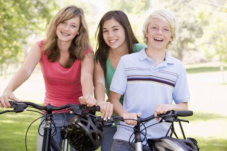 Teenagers On Bicycles  photo