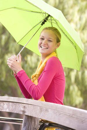 Portrait Of Teenage Girl Outdoors  photo