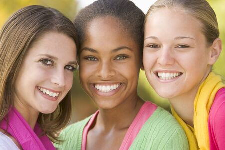Portrait Of A Group Of Teenage Girls Stock Photo - 4446966