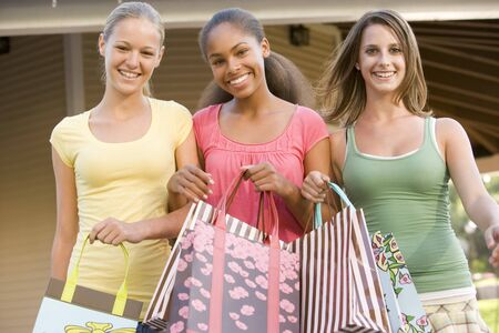 Teenage Girls Out Shopping  photo