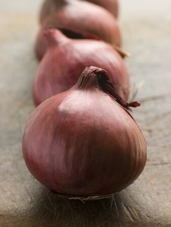red onions: Group of red onions