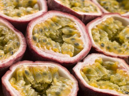 halved: Halved passion fruit