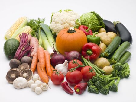 Selection of fresh vegetables photo
