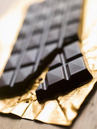 dark chocolate: Dark,plain,chocolate Stock Photo