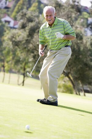 Man Playing A Game Of Golf Stock Photo - 4506957