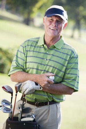 golf bag: Portrait Of A Male Golfer