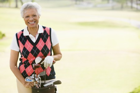 Portrait Of A Female Golfer Stock Photo - 4506835