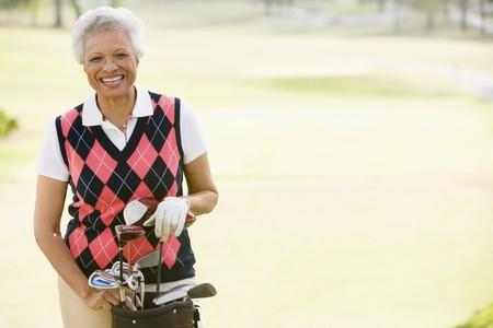 Portrait Of A Female Golfer Stock Photo - 4506835