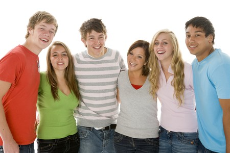 Portrait Of Teenage Girls And Boys photo