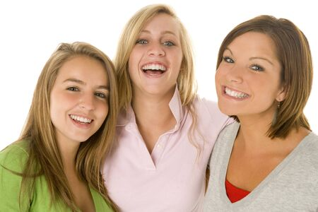 chicas adolescentes: Retrato de Teenage Girls