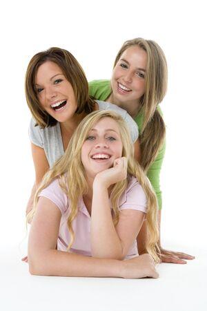 chicas adolescentes: Retrato de ni�as adolescentes Foto de archivo