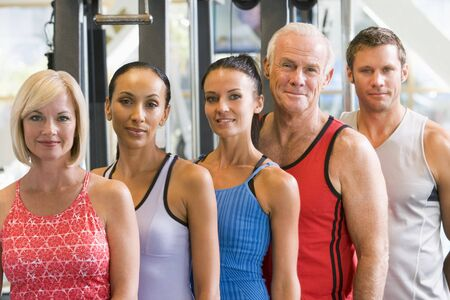 Portrait Of Men And Women At The Gym photo