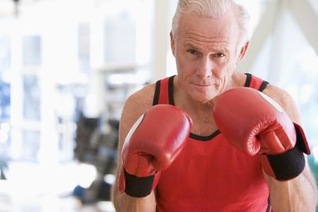 boxing day: Man Boxing At Gym