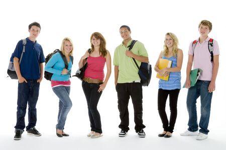 teenagers group: Group Shot Of Teenage School Kids