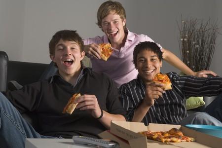 Teenage Boys Eating Pizza Stock Photo - 4507370