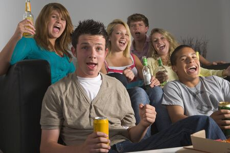 Teenagers Enjoying Drinks Together photo