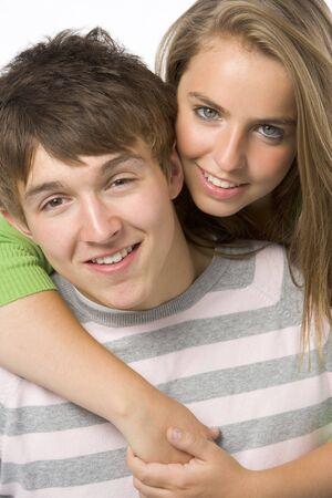 Portrait Of Teenage Couple photo