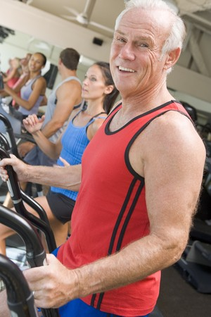 Man Running On Treadmill At Gym Stock Photo - 4499412
