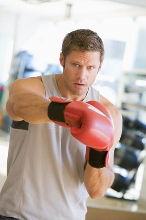 Man Boxing At Gym Stock Photo - 4498943
