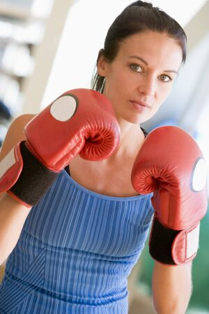 Woman Boxing At Gym photo
