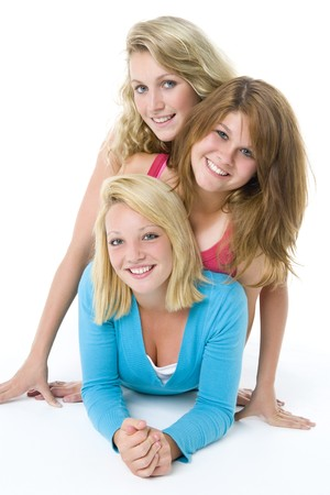 chicas adolescentes: Retrato de las adolescentes