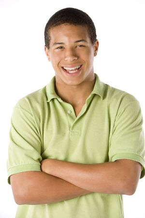 mixed race teen: Portrait Of Teenage Boy