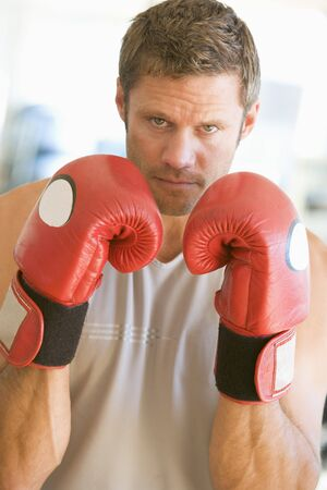 Man Boxing At Gym photo