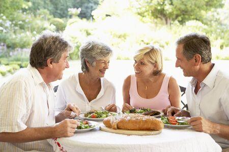 al: Friends Eating An Al Fresco Lunch