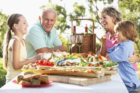 Family Dining Al Fresco Stock Photo - 4499831