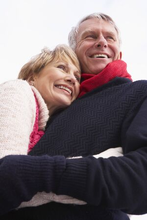 Senior Couple Hugging Stock Photo - 4506430