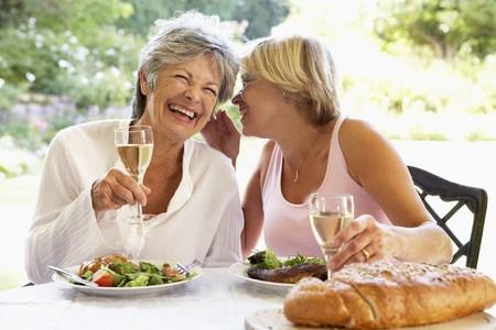 the fifties: Friends Eating An Al Fresco Meal